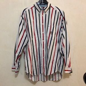 Tommy Hilfiger Vintage Striped Button Down sz L